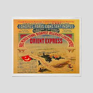 Orient Express Throw Blanket