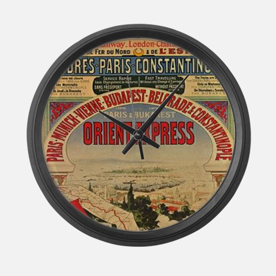 Orient Express Large Wall Clock
