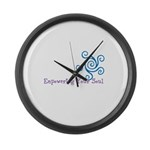 Empowering Your Soul Large Wall Clock
