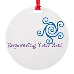 Empowering Your Soul Round Ornament