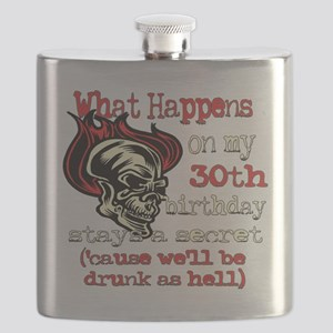 Skullbirthday30 Flask