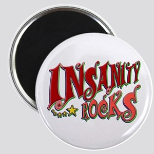 Insanity Rocks Retro Magnet