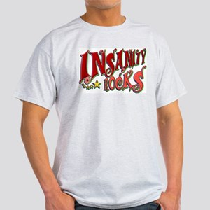 Insanity Rocks Retro Ash Grey T-Shirt