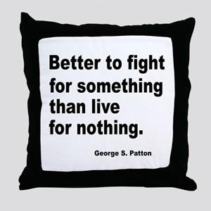 Fight for Something Throw Pillow