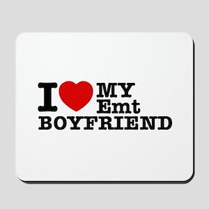 I Love My EMT Boyfriend Mousepad