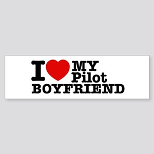 I Love My Pilot Boyfriend Sticker (Bumper)