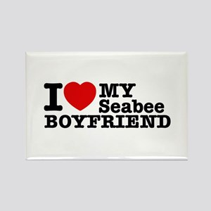 I Love My Seabee Boyfriend Rectangle Magnet