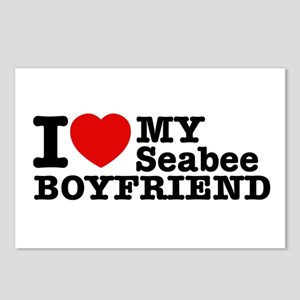 I Love My Seabee Boyfriend Postcards (Package of 8