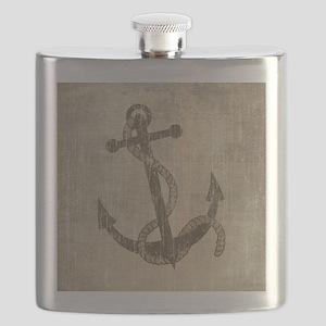 Vintage Anchor Flask