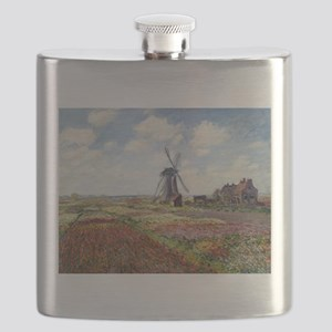 Monet Fields Of Tulip Flask
