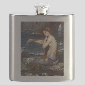 John William Waterhouse Mermaid Flask
