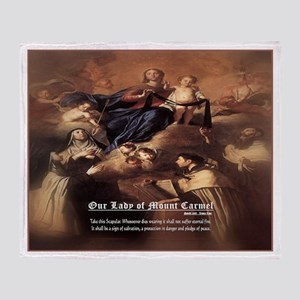 Our Lady of Mount Carmel Novelli Throw Blanket