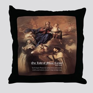 Our Lady of Mount Carmel Novelli Throw Pillow
