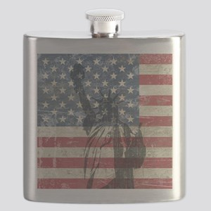 Vintage Statue Of Liberty Flask
