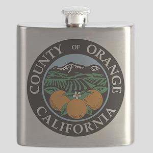 Orange County Seal Flask