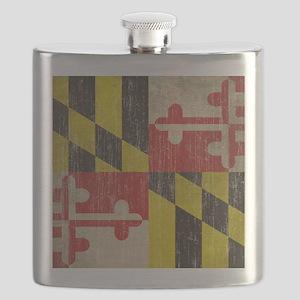 Vintage Maryland Flag Flask