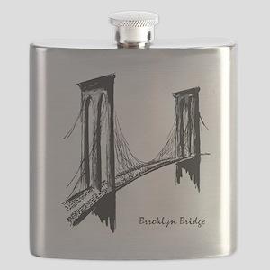 Brooklyn Bridge (Sketch) Flask