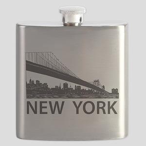 New York Skyline Flask