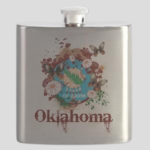 Stylish Oklahoma Flask