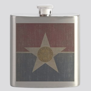 Vintage Dallas Flag Flask