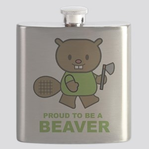 Proud To Be A Beaver Flask