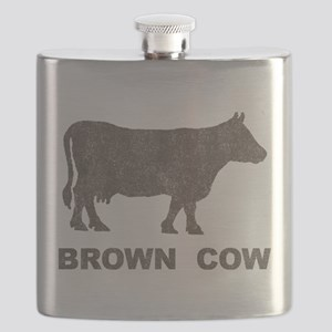 Vintage Brown Cow Flask
