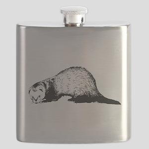 Hand Sketched Ferret Flask