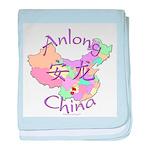 Anlong China Map baby blanket