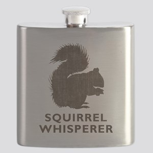 Vintage Squirrel Whisperer Flask