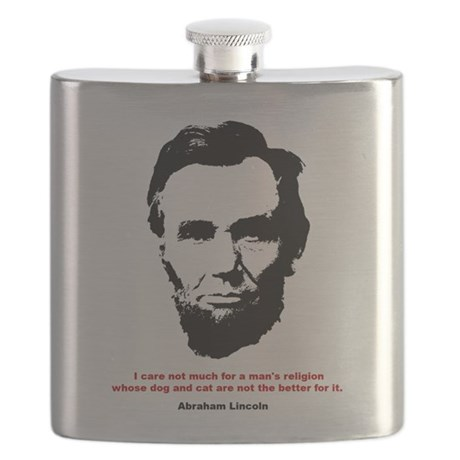 Abraham Lincoln Quote Flask