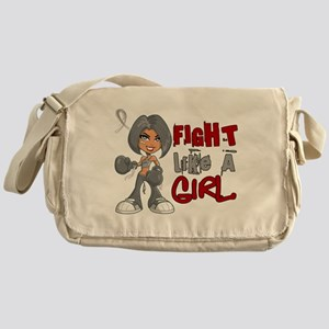 Licensed Fight Like a Girl 42.8 Brai Messenger Bag