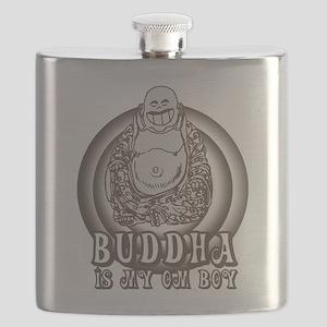 Retro Buddha Is My Homeboy Flask