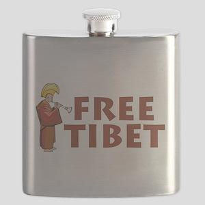 Tibetan Lama Free Tibet Flask