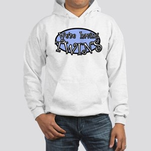 We're having TWINS-blue Hooded Sweatshirt