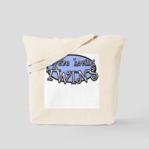 We're having TWINS-blue Tote Bag