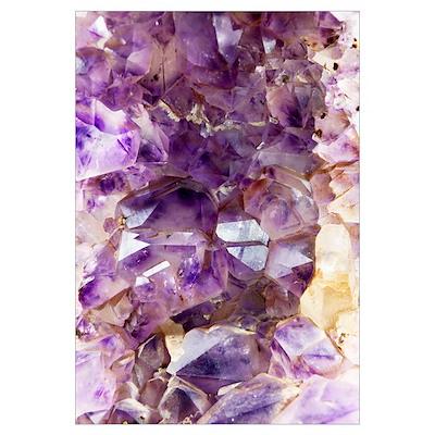 Amethyst crystals Poster