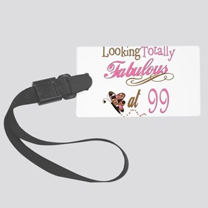 FabPinkBrown99 Large Luggage Tag