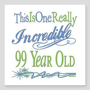 "IncredibleGreen99 Square Car Magnet 3"" x 3"""