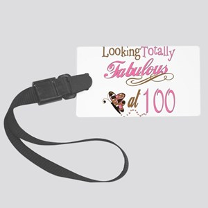 FabPinkBrown100 Large Luggage Tag