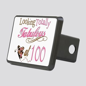 FabPinkBrown100 Rectangular Hitch Cover