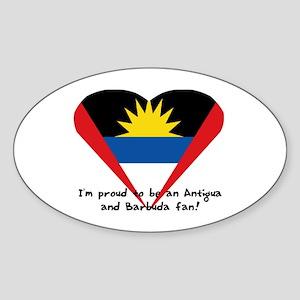 Antigua and Barbuda pride Oval Sticker