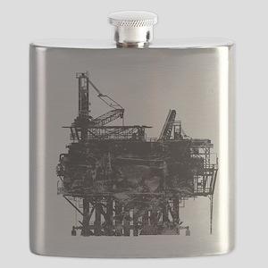 Vintage Oil Rig Flask