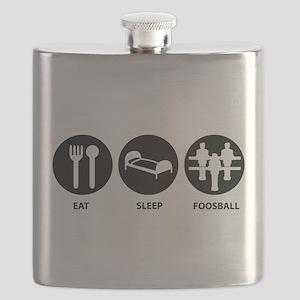 Eat Sleep Foosball Flask