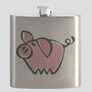 Cute Cartoon Pig Flask