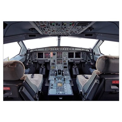 Airbus A330 cockpit Canvas Art