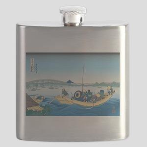 Hokusai Ryogoku Bridge Flask