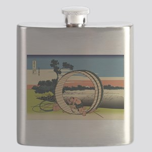 Hokusai Fuji View Field Flask