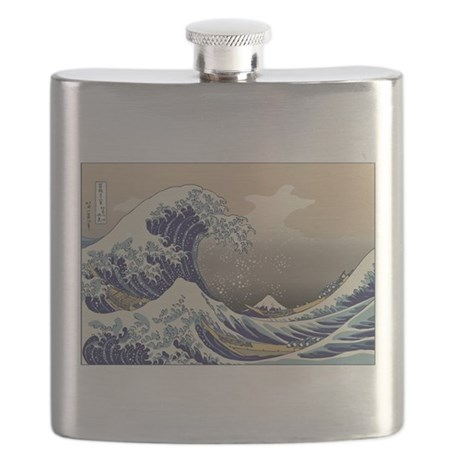 Hokusai The Great Wave Flask