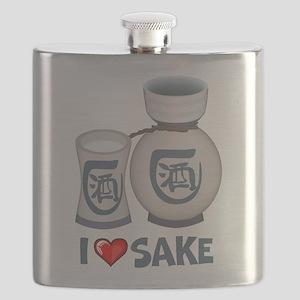 I Love Sake Flask