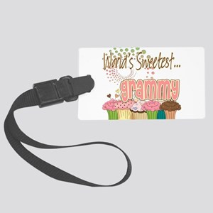 Sweetest grammy copy Large Luggage Tag